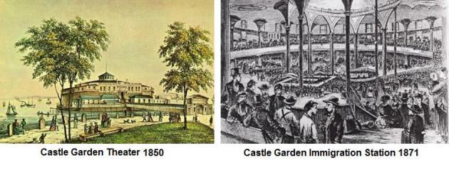 Aquarium and castle clinton at battery park li ny places that are no more for Castle garden immigration records